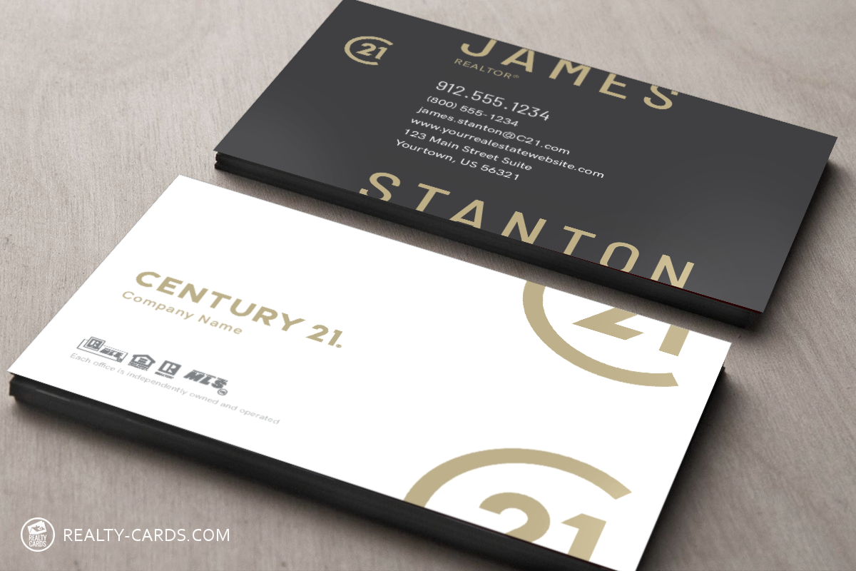 Approved Century 21 Business Cards Real Estate Business Cards Printing Business Cards Business Card Template Design