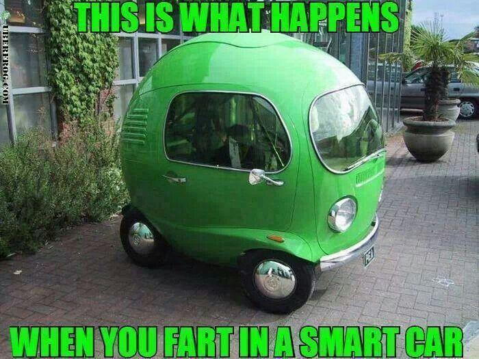Fartin in a smart car