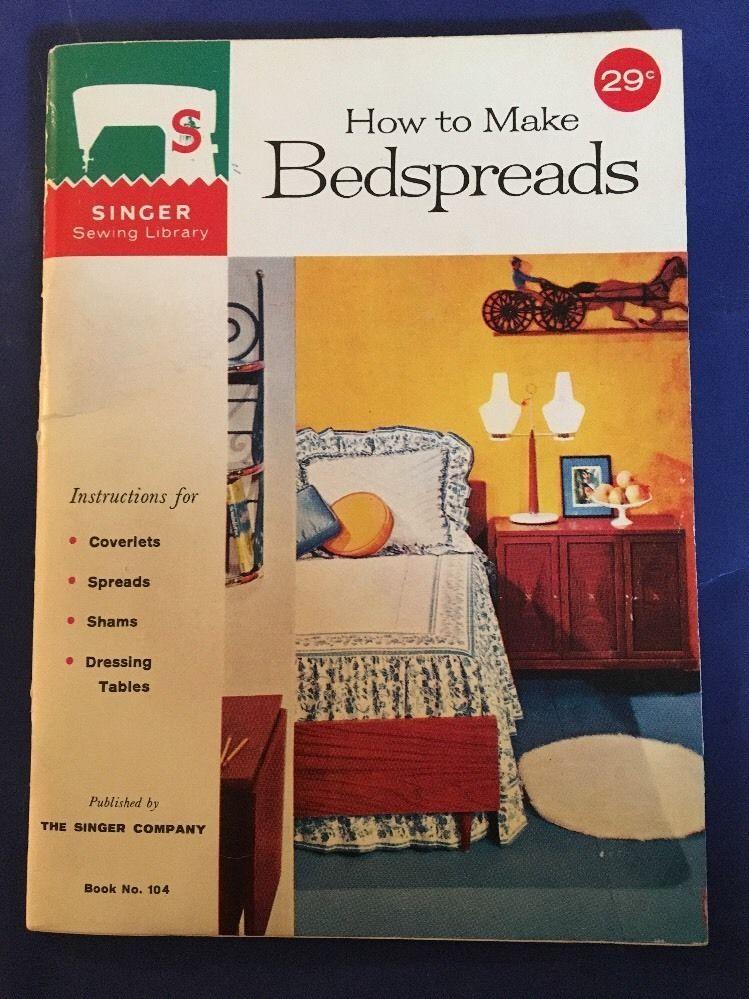 VTG Singer 1960 Sewing Library How To Make Bedspreads Booklet  | eBay