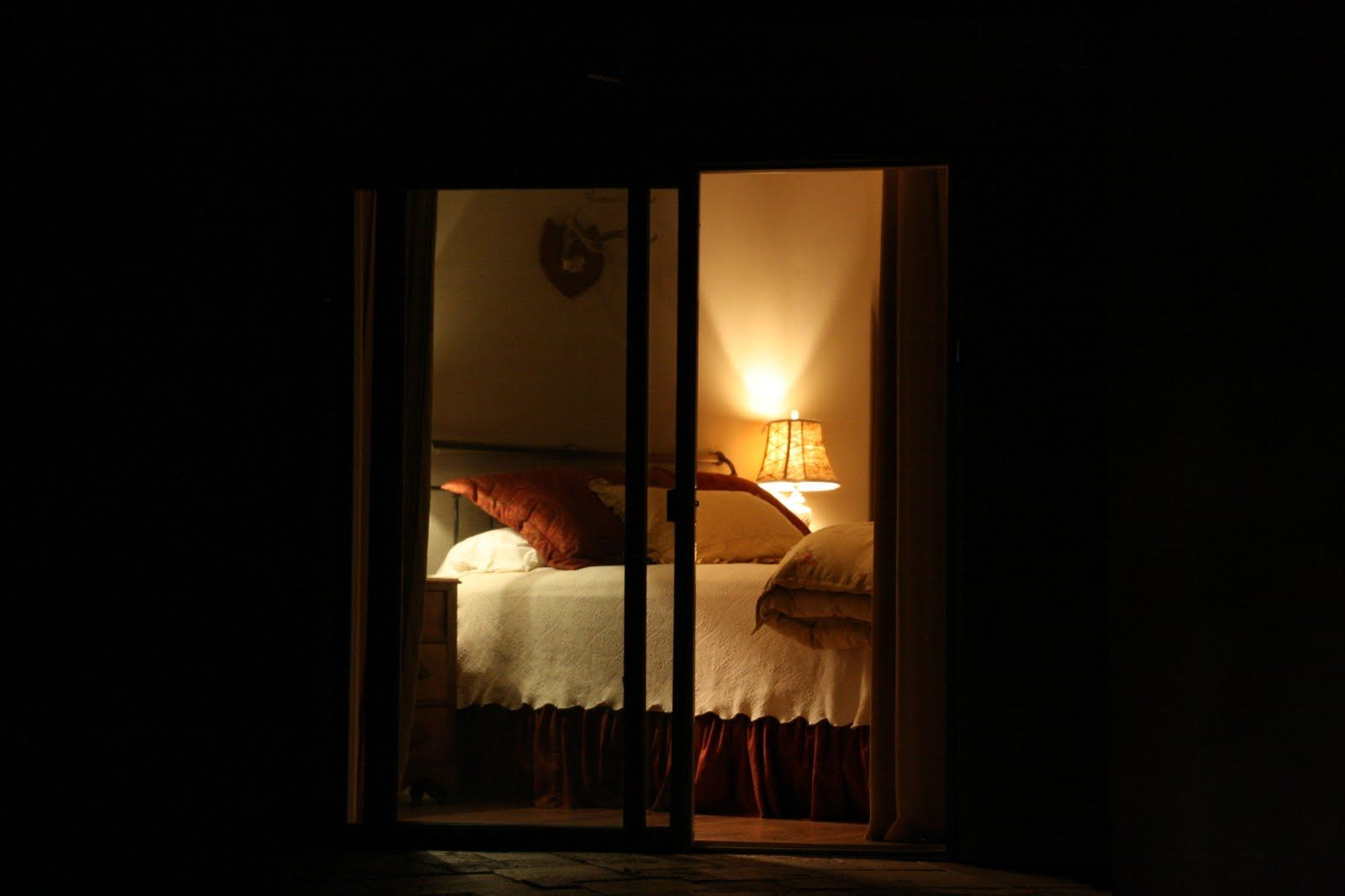 Bedroom at night time - Looking Through Night Time Windows Into The Blogger S Bedroom Beautiful Capture Of Golden Color And
