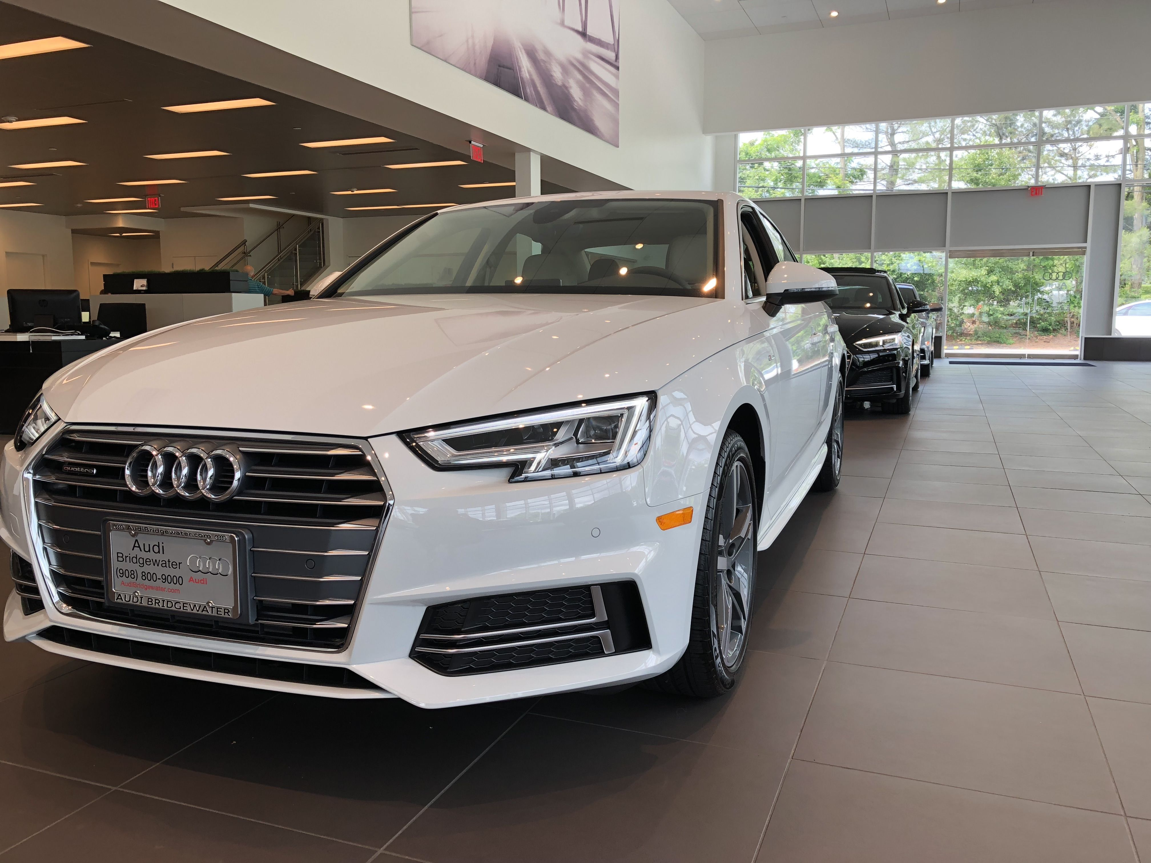 Angled Front View Of Ibis White Audi A Located At Audi Of - Audi dealers nj