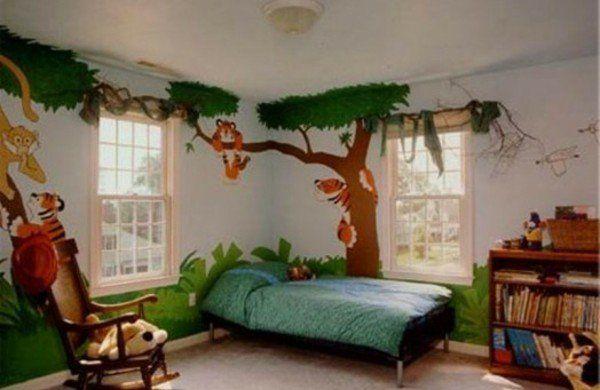 Lustige Dschungel Dekoration im Kinderzimmer 15 schöne