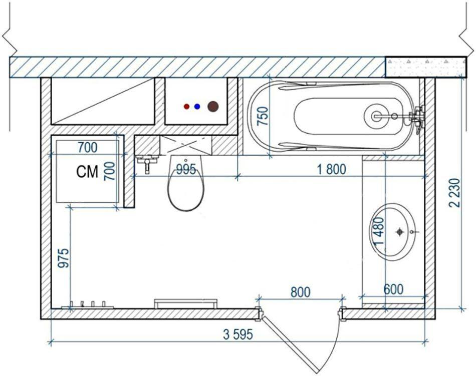 plan n 1 damnagement dune petite salle de bains - Plan D Une Salle De Bain