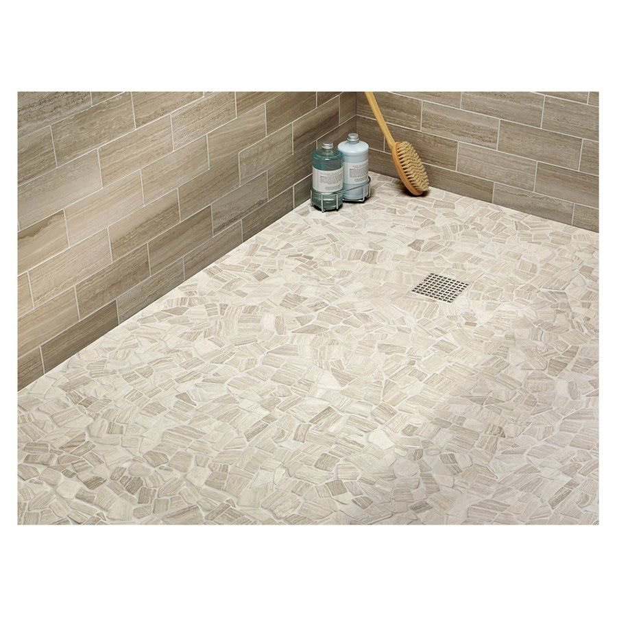 American Olean 12 X 12 Delfino Stone Arctic Topaz Pebble Mosaic Limestone Wall And Floor Tile Lowe S Cana Stone Mosaic Wall Pebble Mosaic Tile Limestone Wall