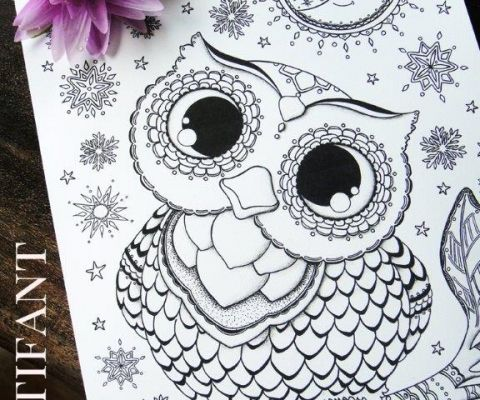 More Owl Coloring Pages For Grown Ups Owl Coloring Pages Free