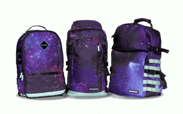 These Glow-in-the-Dark Galaxy Backpacks are Out-of-This-World #school #backpacks trendhunter.com