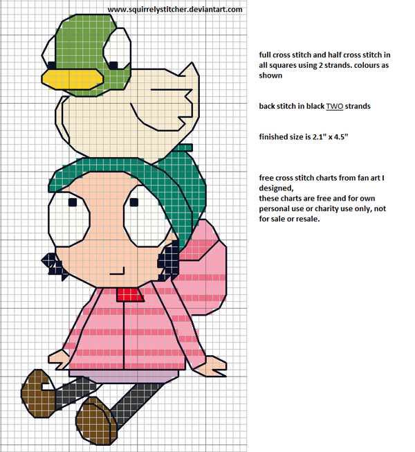 Sarah & Pato Duck punto de cruz. Cross stitch | SARAH & DUCK BDAY ...