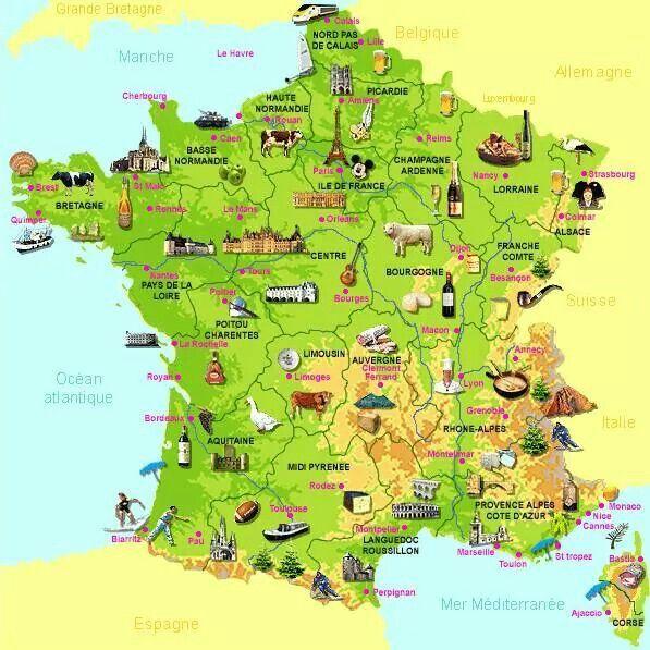 Etudions La Gastronomie Francaise France Geography France Map