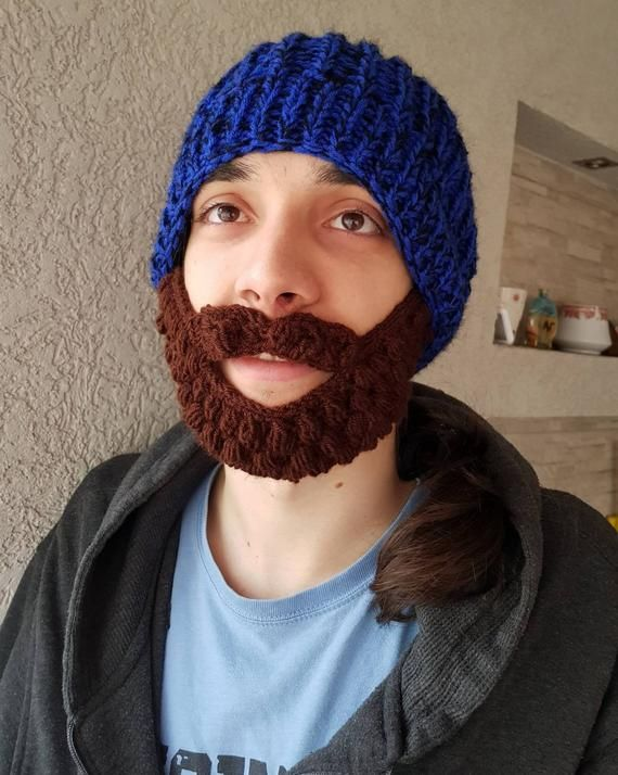 Knit Beard Hat Valentines Crochet Boys Hat with beard Handmade Beanie with Beard Crochet beard beanie hat Crazy festival Gift for him Knit #crochetedbeards