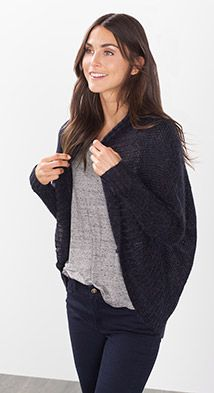 Esprit / Batwing Cardigan aus Woll-Mix mit Mohair