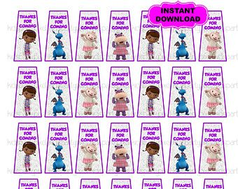 Doc Mcstuffins Hand Sanitizer Labels Custom Birthday Party Thank