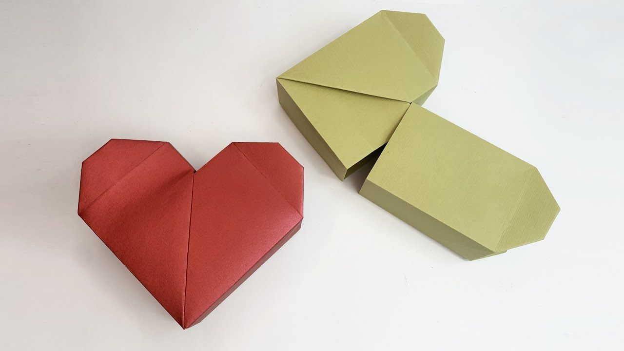 How To Make An Origami Heart Box In 2020 Origami Heart Heart Box Origami