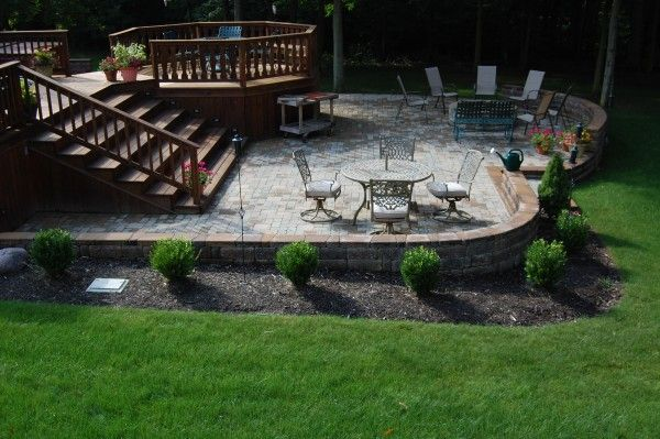 17 best images about outdoor spaces on pinterest patio wood decks and decks - Backyard Patio Deck Ideas