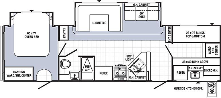Travel Trailer Floor Plans With Bunk Beds Matttroy