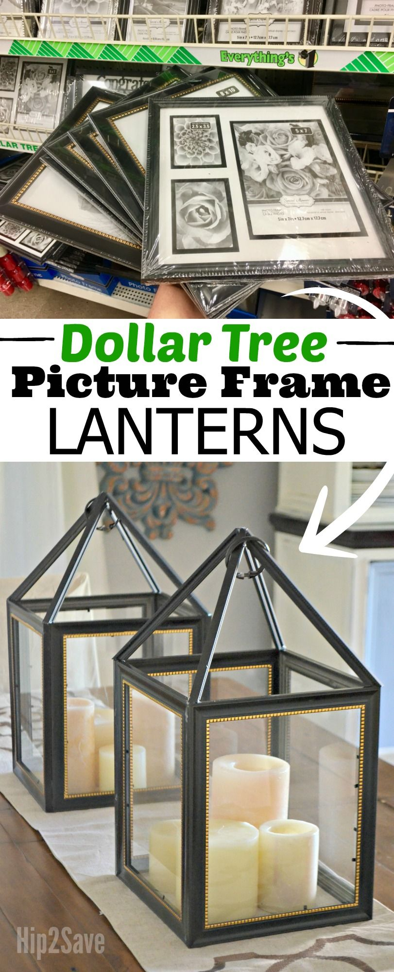 Here S How To Turn Dollar Tree Picture Frames Into One Trendy Farmhouse Style Lantern