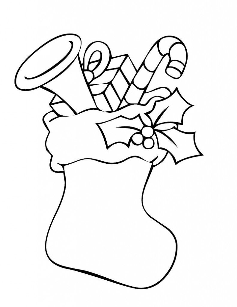 christmas stocking coloring page: christmas stocking coloring page ...