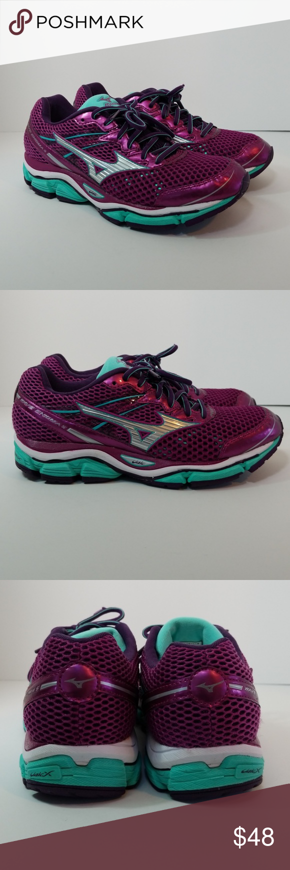 online retailer wholesale sales on feet shots of Mizuno Wave Enigma 5 Running Sneaker Great Condition with light ...