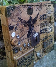 The Little Shabby Shed: Altered Canvas