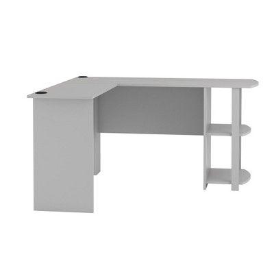 Fieldstone L Shaped Desk With Bookshelves Gray Room Joy Bookshelf Desk L Shaped Desk Desk