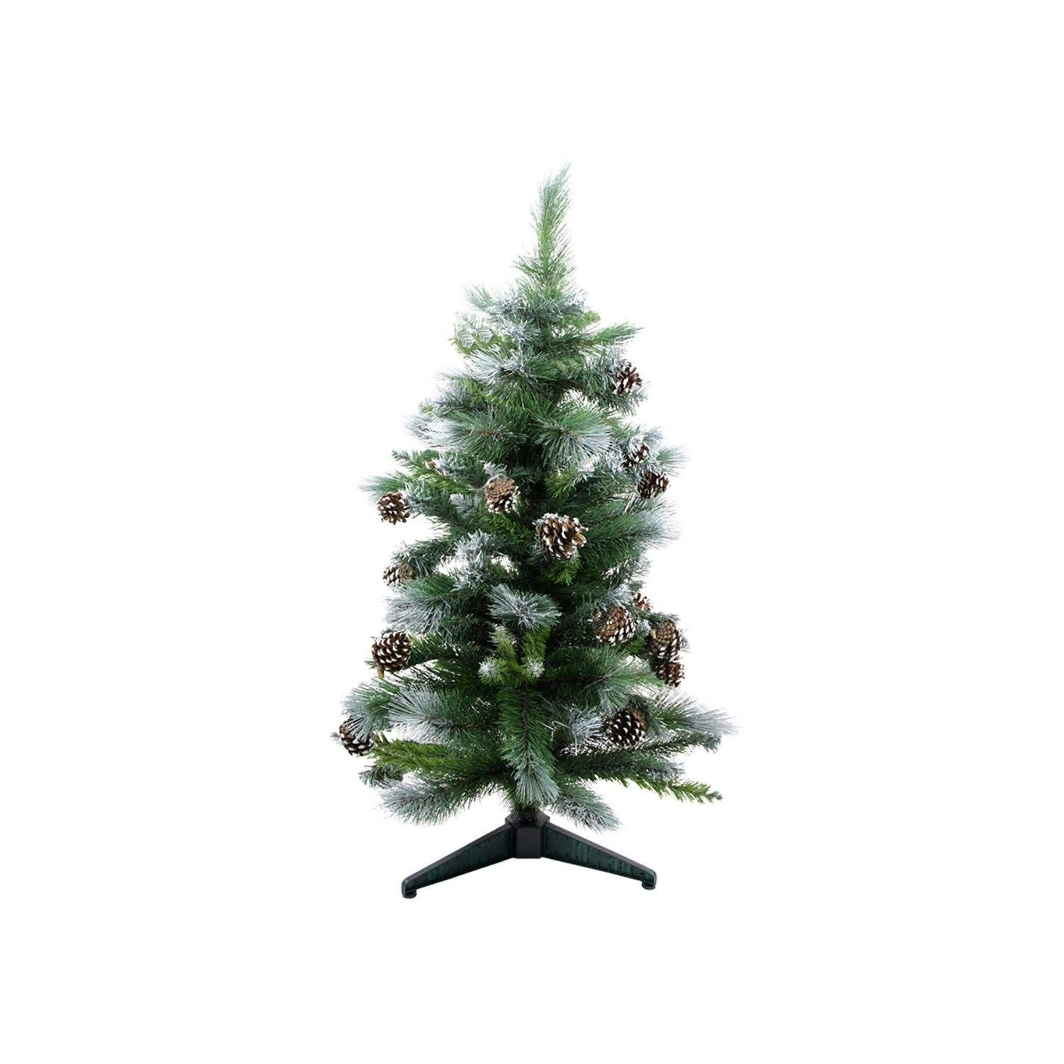 Darice 3 Frosted Glacier Pine Artificial Christmas Tree With Pine Cones Un Pine Cone Christmas Tree Artificial Christmas Tree Cool Christmas Trees