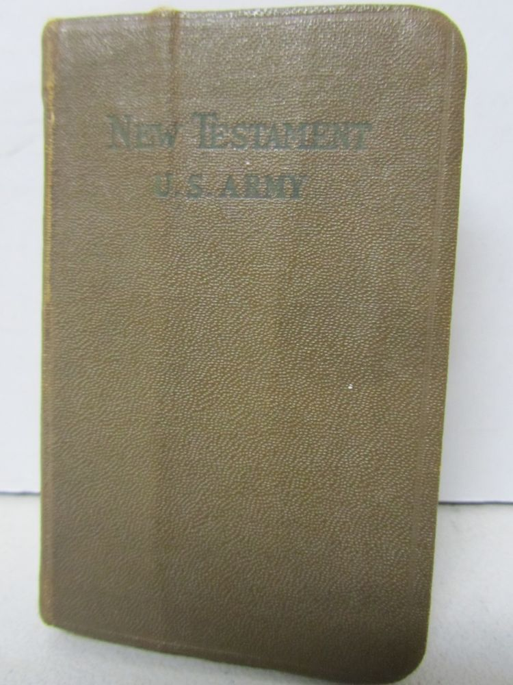 New Testament Pocket Bible WW2 (?) U S  Army Soldier Military Book
