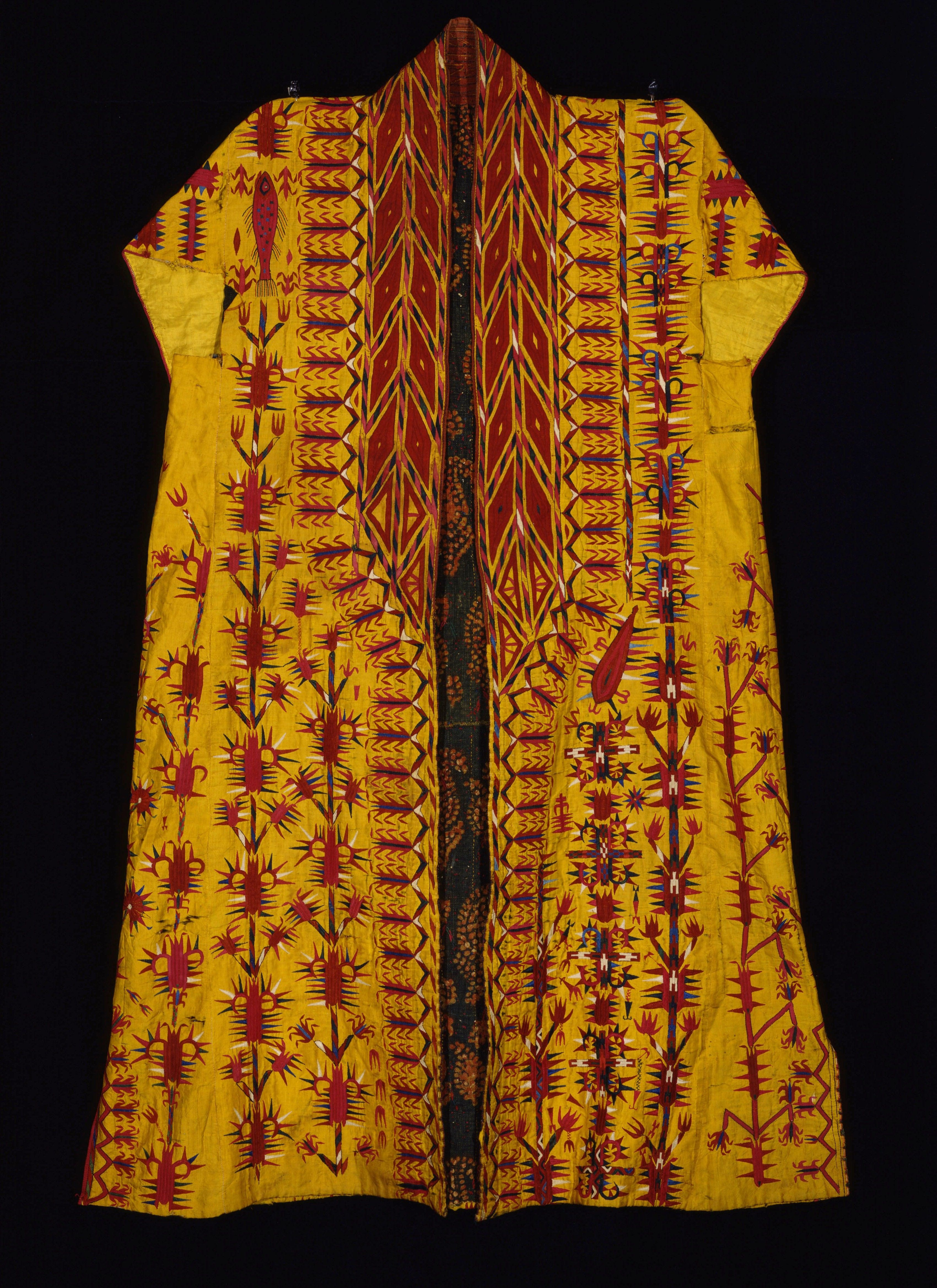 Turkmenistan, silk and cotton (lining) chyrpy (coat