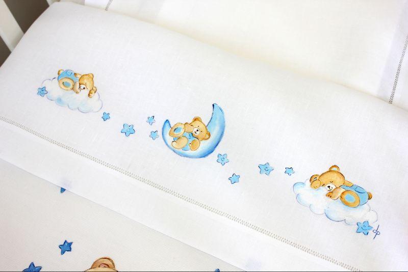 Risultati immagini per lenzuola per culla dipinti bimbo