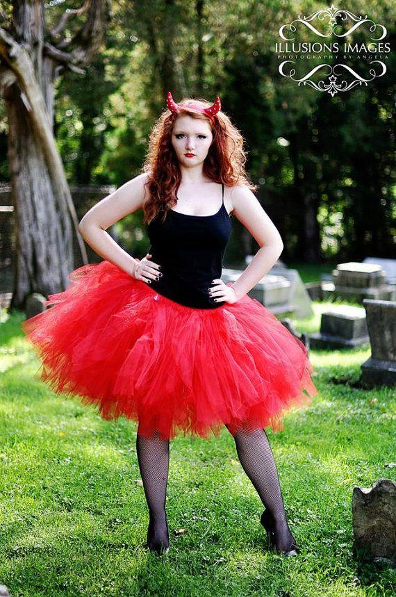 Adult Tutu Devil Costume Red Tutu Woman by
