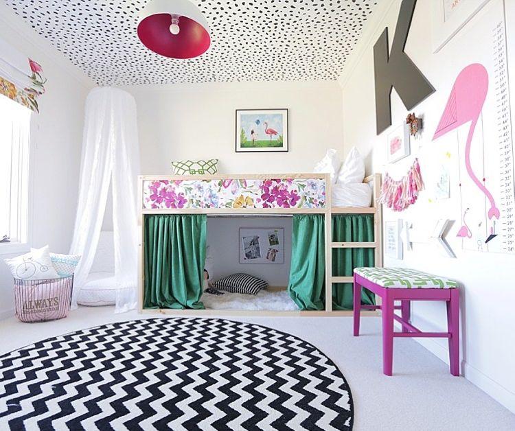 Hochbett Ikea Kura Deko Idee Mädchen Kinderzimmer #family #baby ...