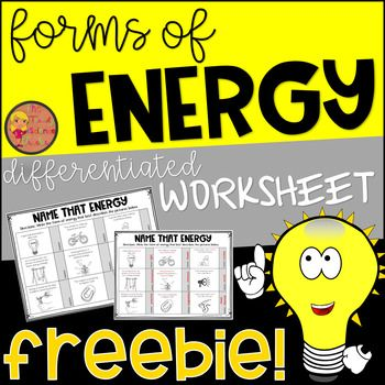 Free Assess Your Students Understanding Of Energy Forms With This