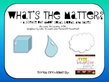 matter science Matter is made of single particles called atoms and is any substance that has either mass or volume matter can exist in three states, either as a solid, a liquid or a gas.