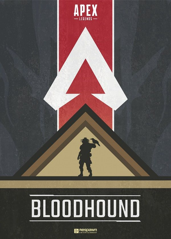 "Apex Legends Character Silhouettes Bloodhound #Displate explore Pinterest""> #Displate artwork by artist ""Jude Beavis"".… | Displate thumbnail"