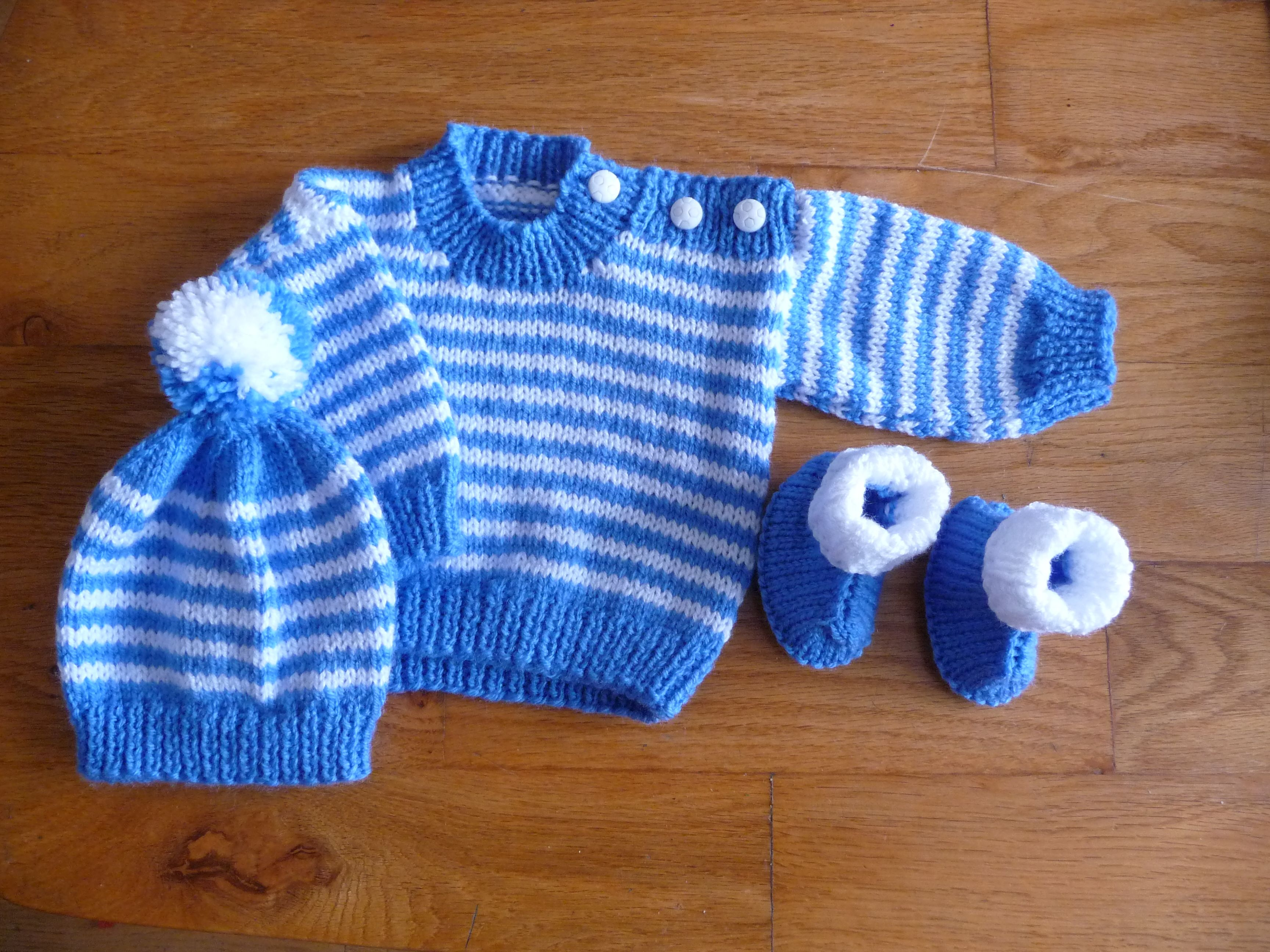 Set For A Baby Boy Sweater Is Tivoli 708 With Adjustments Tric