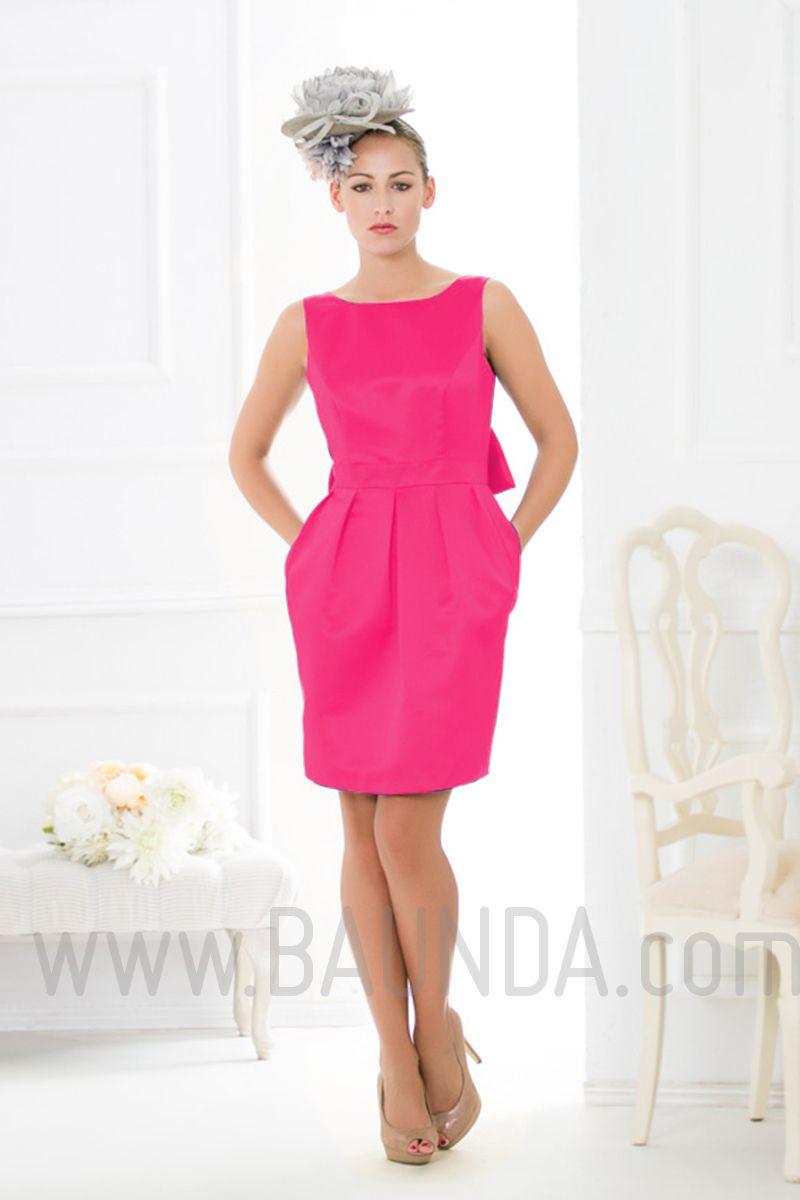 Vestido de fiesta corto 2016 Baunda 1654 Fucsia | Vestidos | Pinterest