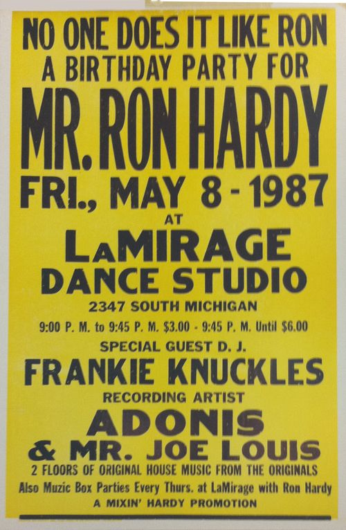 Ron Hardy Adonis And Joe Lewis 1987 Poster Chicago House Music House Music House Music Djs