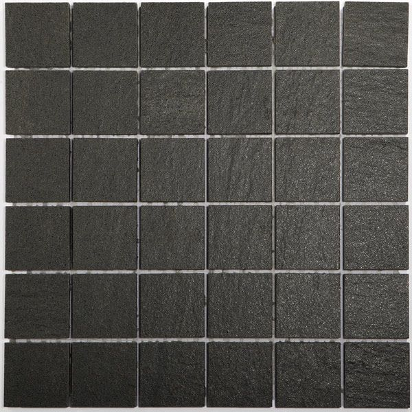 Mosaikfliesen Feinsteinzeug Teros Schwarz Boden Pinterest - wohnzimmer fliesen schwarz