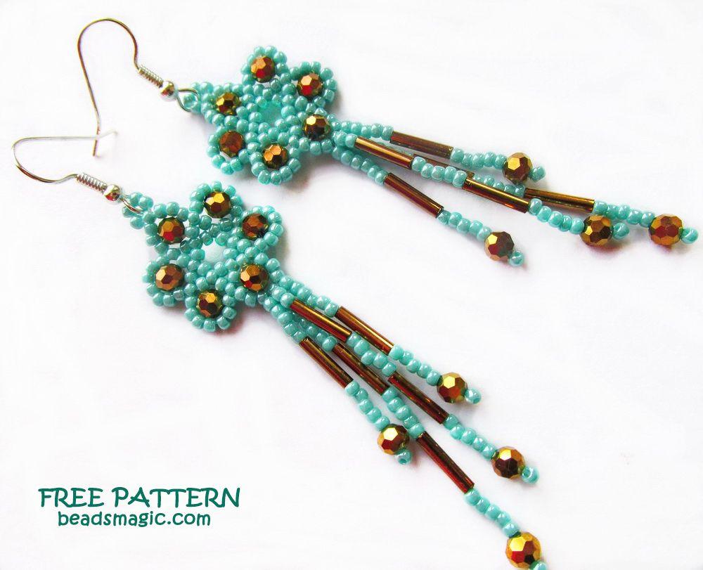 Free Pattern For Earrings Marcela Beaded Earrings Patterns