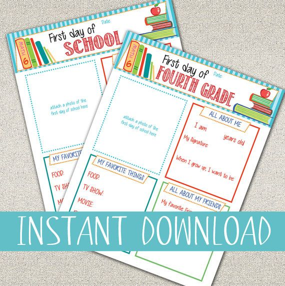 All About Me Questionnaire Printables First Day Of School Questionnaire K 8 Grades Diy Printable School Signs First Day Of School Back To School Pictures All about me questionnaire preschool