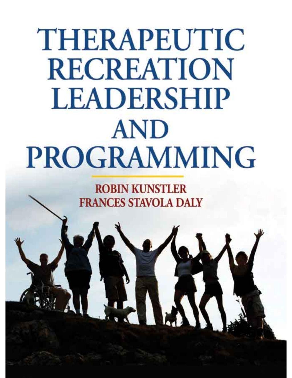 The Utic Recreation Leadership And Programming Ebook