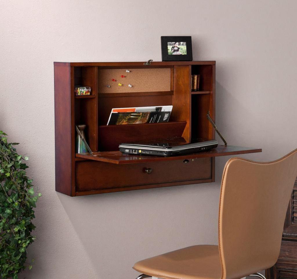wall mounted folding desk Rustikale home office Möbel | Büromöbel ...