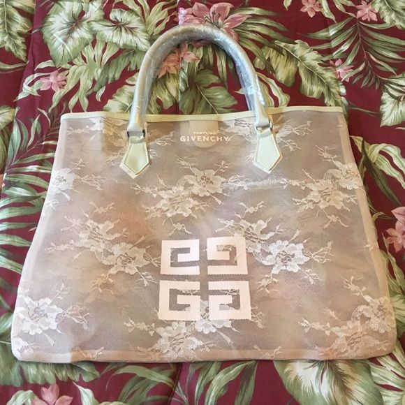 Givenchy large mesh tote NIB Brandnew 100% authentic. Givenchy vip parfums  gift with purchase. Snap closure. Strap in plastic wrap. Givenchy Bags Totes 699c3d9680