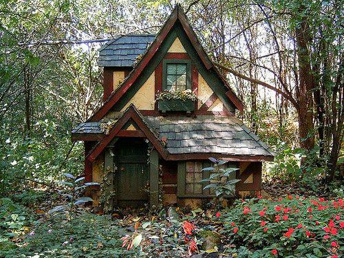 mykindafairytalee:    fairy house 1 by indisguise on Flickr.