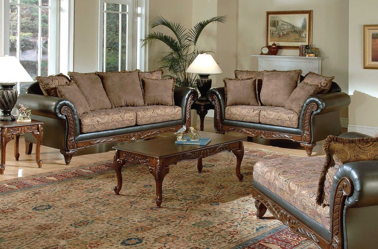 Best Formal Living Room Sofa Sets Fairfax Chocolate 400 x 300