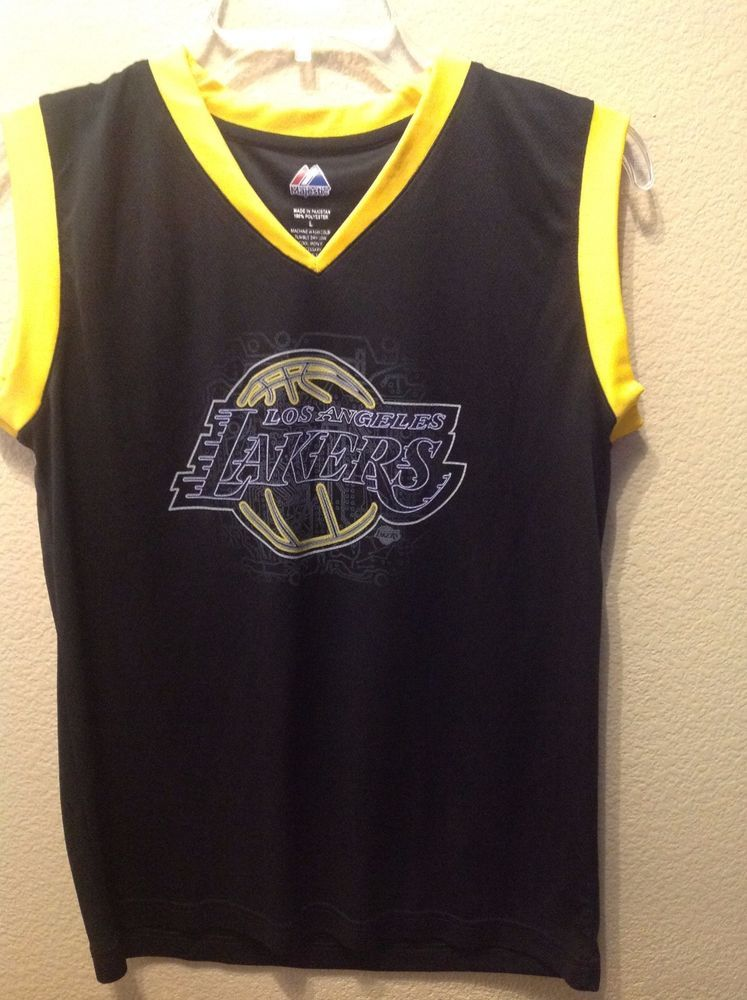 7d90d9b3b  NBA Los Angeles Lakers  24 Kobe Bryant Majestic Youth Sz L Black gold  Jersey from  19.99