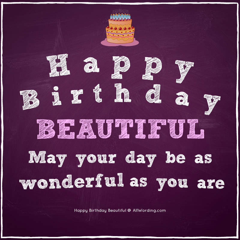 Happy Birthday Beautiful 30 Sweet Birthday Wishes For Her With