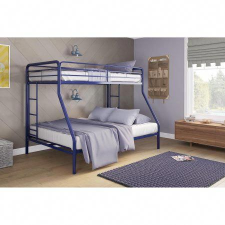 Dorel Twin Over Full Metal Bunk Bed Multiple Colors Blue
