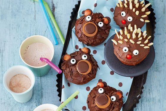 rezepte f r den kindergeburtstag lustige muffins food art pinterest kindergarten food. Black Bedroom Furniture Sets. Home Design Ideas