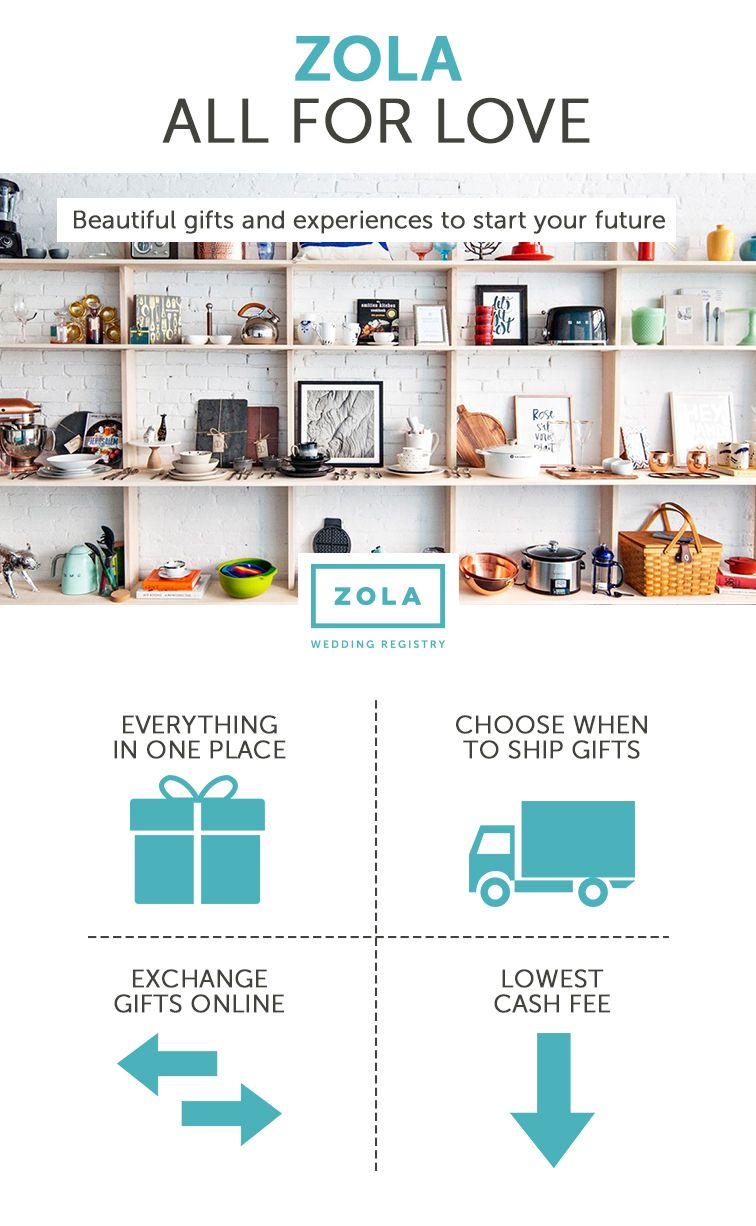 Newly engaged avoid registry stress by registering with zola avoid registry stress by registering with zola zola is the smarter wedding malvernweather Gallery