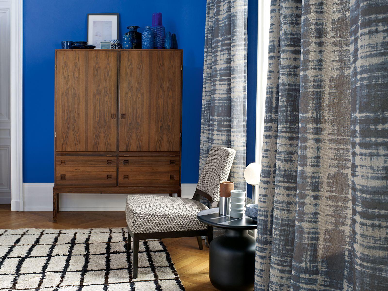 Zimmer + Rohde, living room, Wohnzimmer, Stuhl, chair, drapery ...