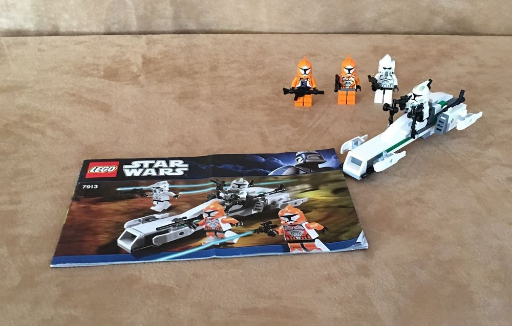 7913 Lego Star Wars Clone Trooper Battle Pack Complete Instructions